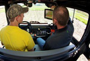 Farming using GPS
