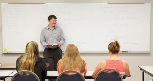 Instructor in front of class at LLCC-Litchfield