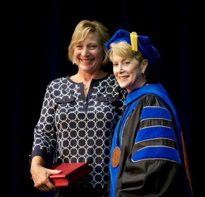 Honored Alumna Cinda Edwards with LLCC President Charlotte Warren