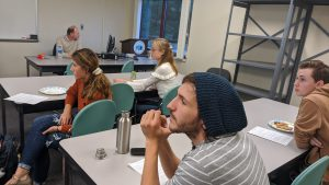 Picture of LLCC students learning about the 3D print process
