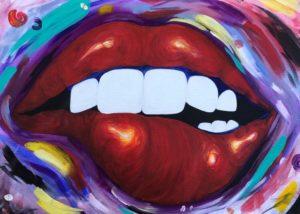 MWAH - Acrylic on canvas - by Maria Kelarestaghi