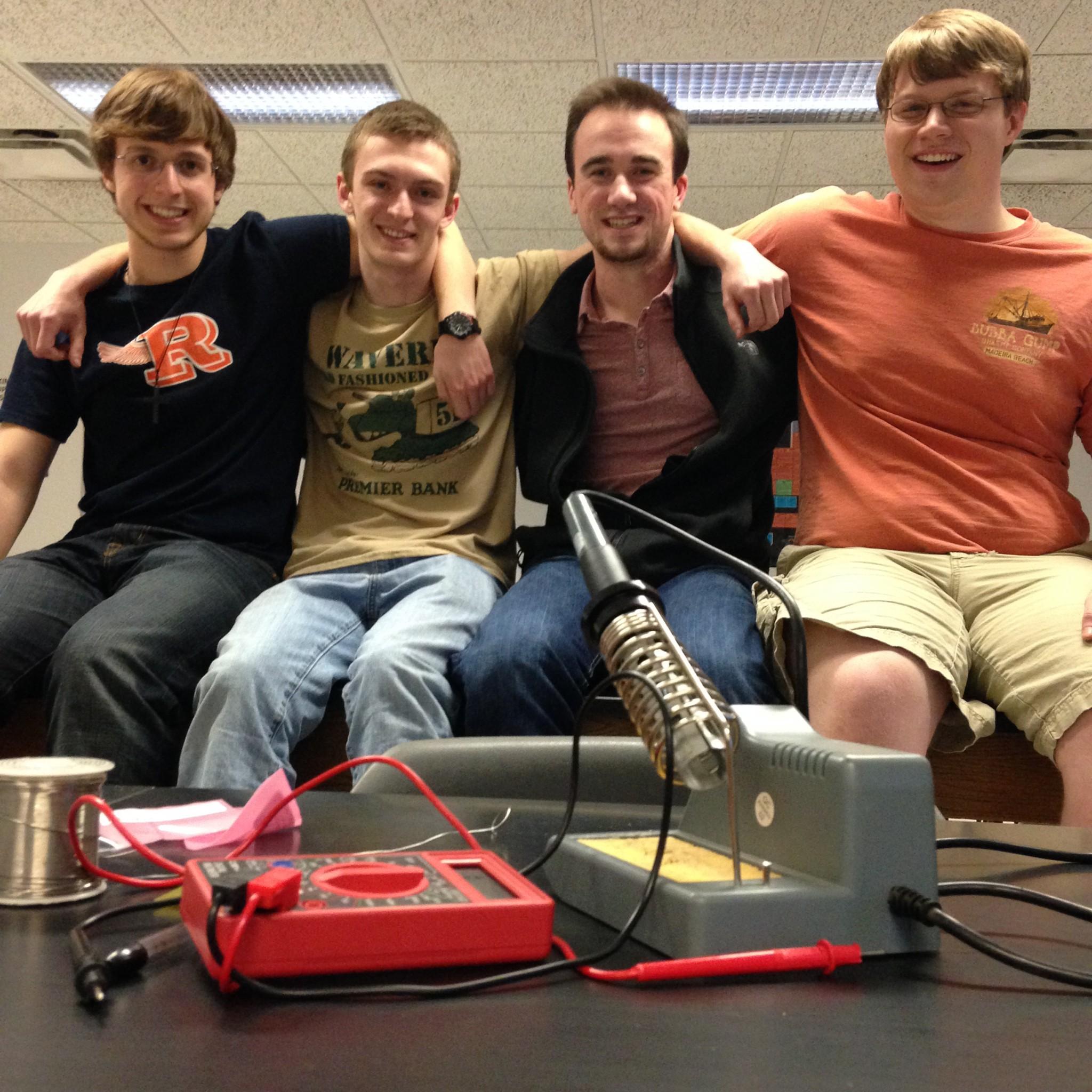 Robotics club members